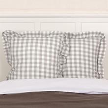 Annie Buffalo Grey Check Fabric Euro Sham - 840528165085