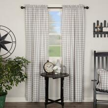 Annie Buffalo Grey Check Curtains - 840528165139
