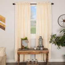 Annie Buffalo Tan Check Curtains - 840528165351