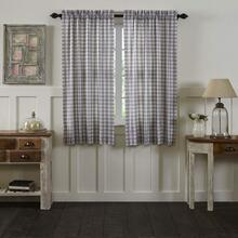 Annie Buffalo Grey Check Short Curtains - 840528165146
