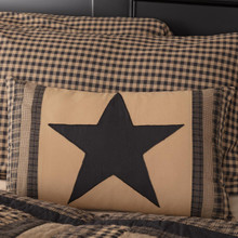 Black Check Star Patch Pillow - 840528173332