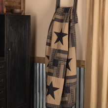 Black Check Star Quilted Throw - 840528173271