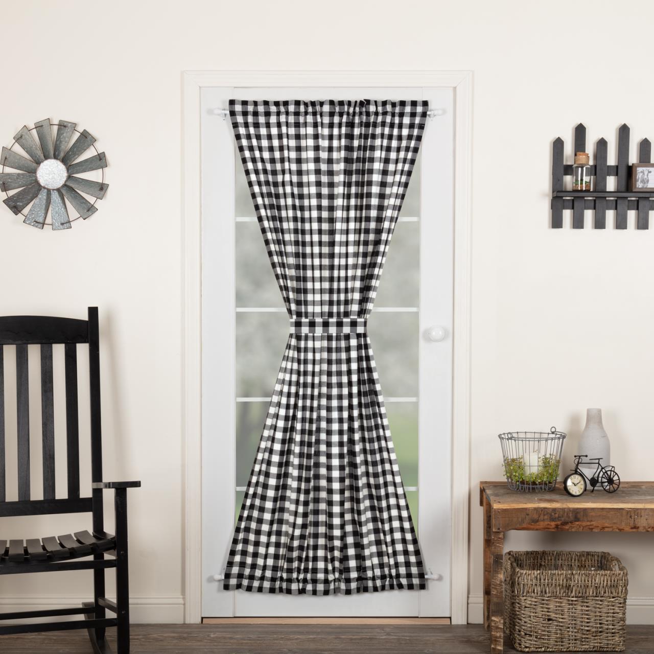 Annie Buffalo Black Check Door Panel - 840528178719