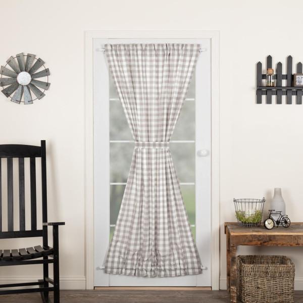 Annie Buffalo Grey Check Door Panel - 840528178757
