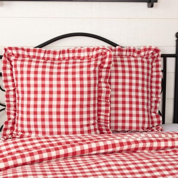 Annie Buffalo Red Check Fabric Euro Sham - 840528178849