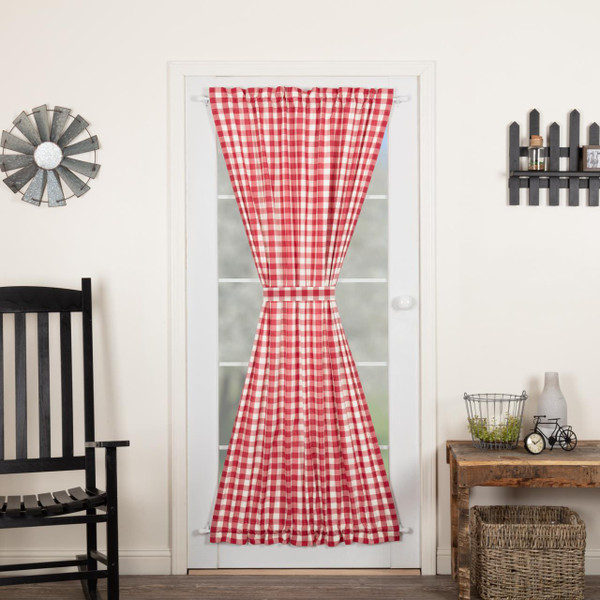 Annie Buffalo Red Check Door Panel - 840528178931