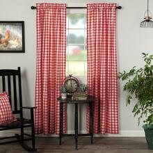 Annie Buffalo Red Check Curtains - 840528178948