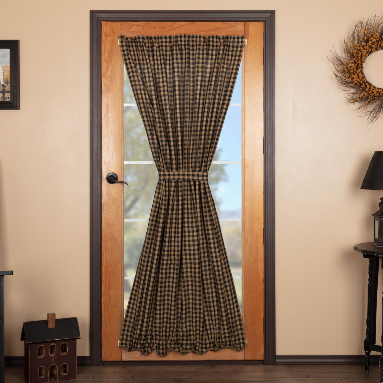 Black Check Door Panel - 840528179044