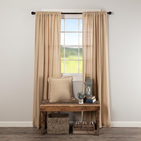 Burlap Vintage Curtains - 840528179525