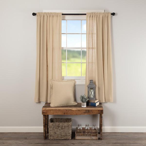 Burlap Vintage Short Curtains - 840528179532
