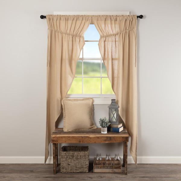 Burlap Vintage Prairie Long Curtains - 840528179549