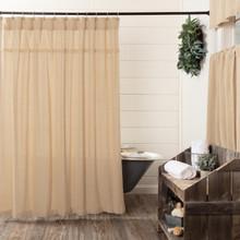 Burlap Vintage Shower Curtain - 840528179587