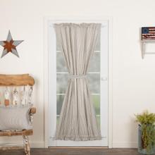 Hatteras Seersucker Blue Ticking Stripe Door Panel - 840528179891