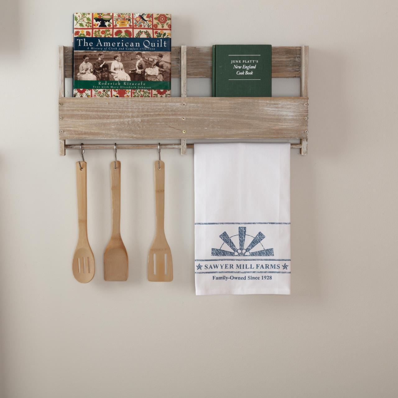 Sawyer Mill Blue Windmill Blade Muslin Bleached White Tea Towel - 840528180583