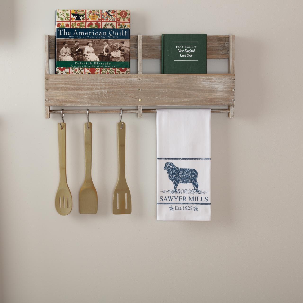 Sawyer Mill Blue Lamb Muslin Bleached White Tea Towel - 840528180590