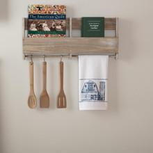 Sawyer Mill Blue Barn Muslin Bleached White Tea Towel - 840528180606