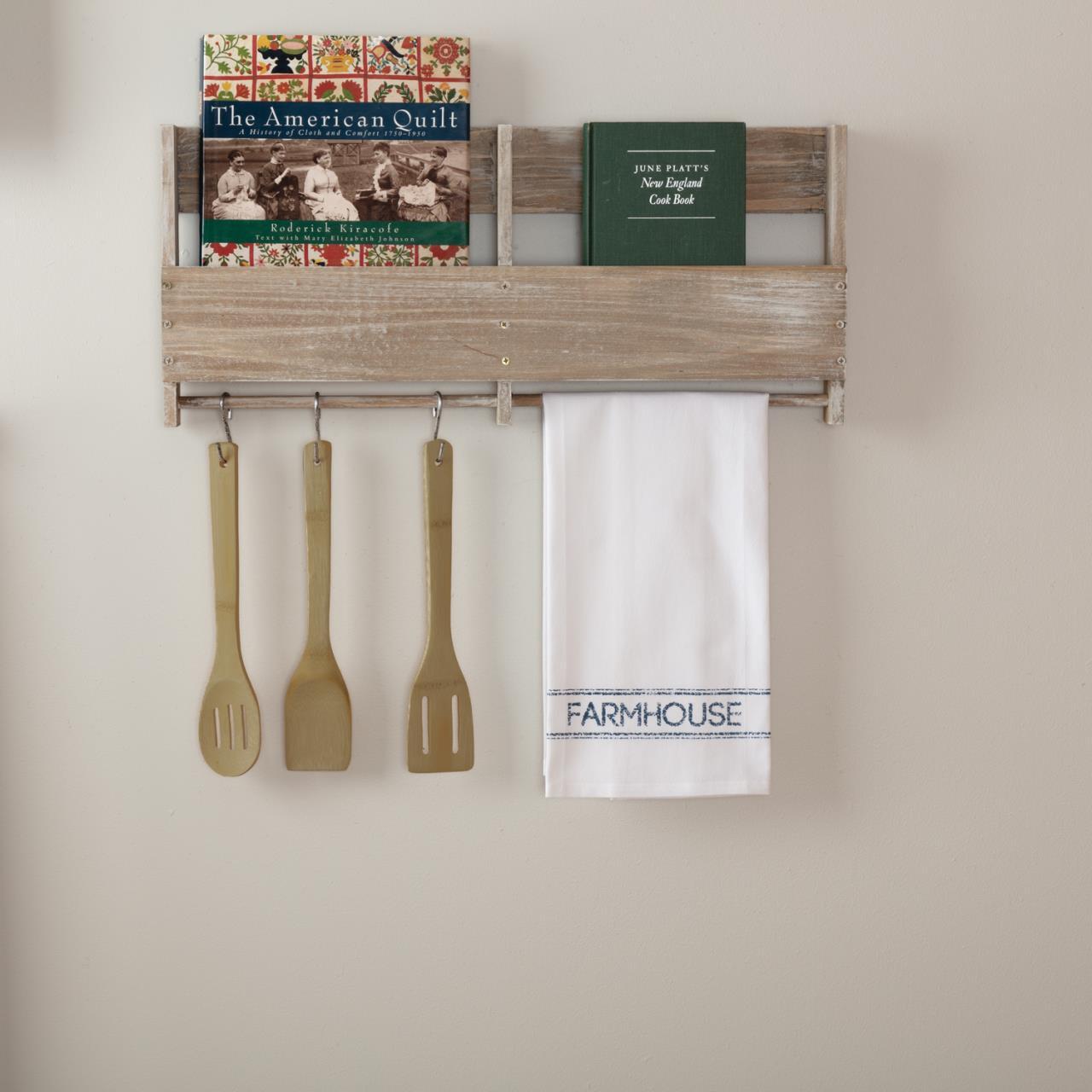 Sawyer Mill Blue Farmhouse Muslin Bleached White Tea Towel - 840528180613