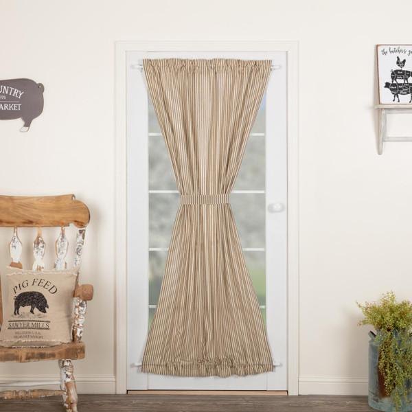 Sawyer Mill Charcoal Ticking Stripe Door Panel - 840528180705