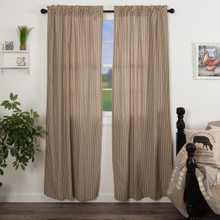 Sawyer Mill Charcoal Ticking Stripe Curtains - 840528180712