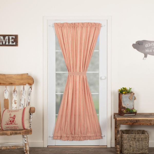 Sawyer Mill Red Ticking Stripe Door Panel - 840528180972