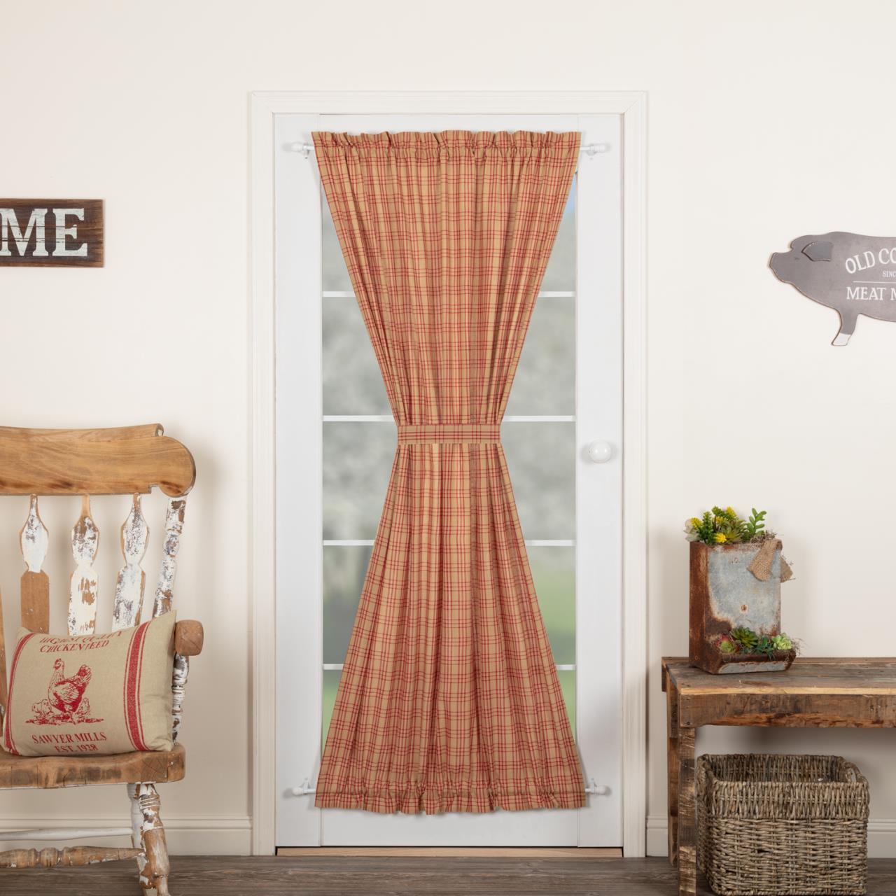 Sawyer Mill Red Plaid Door Panel - 840528181054