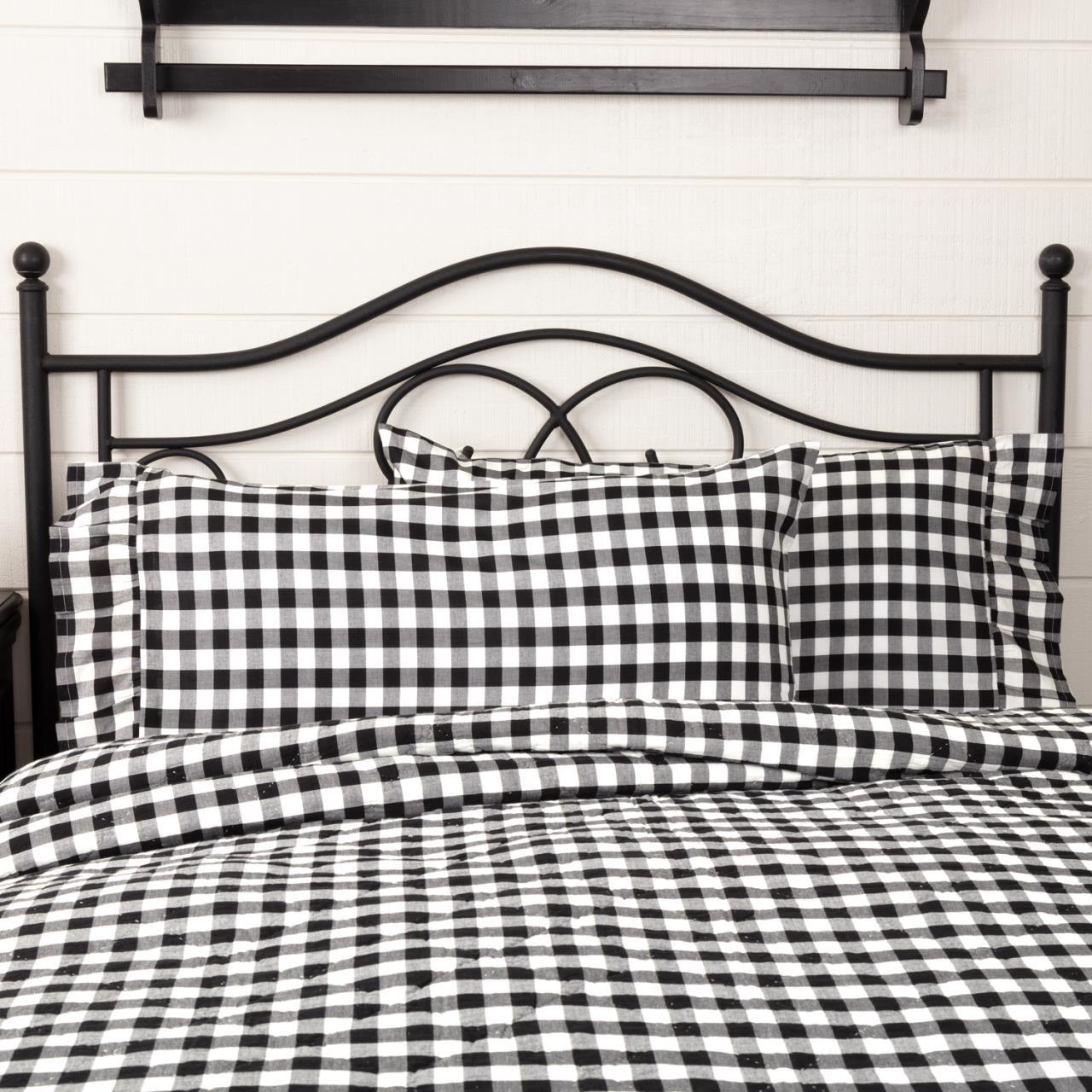 Annie Buffalo Black Check King Pillow Case Set - 840528182327
