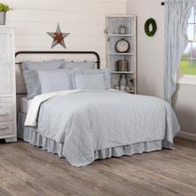 Sawyer Mill Blue Ticking Stripe Quilt - 840528183850