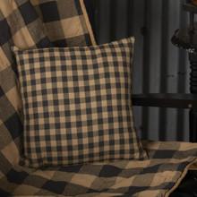 Black Check Fabric Pillow - 840528154010