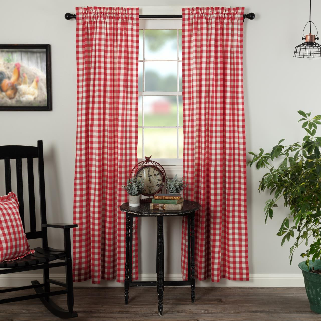 Annie Buffalo Red Check Curtain Collection -