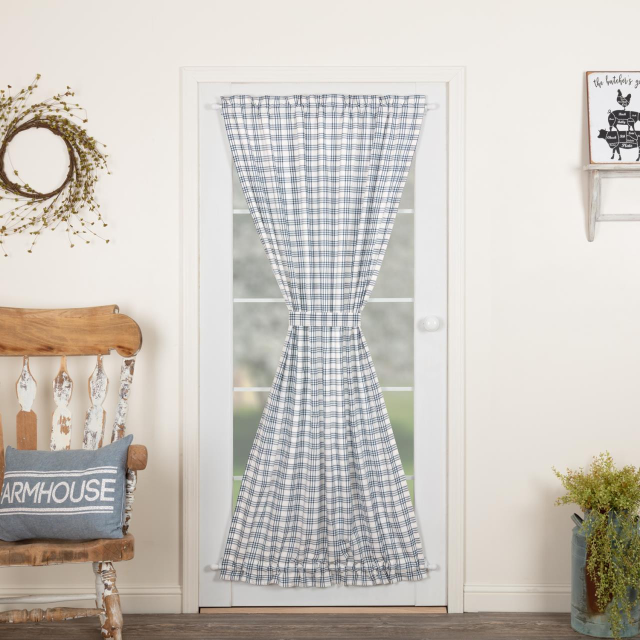 Sawyer Mill Blue Barn Curtain Collection -