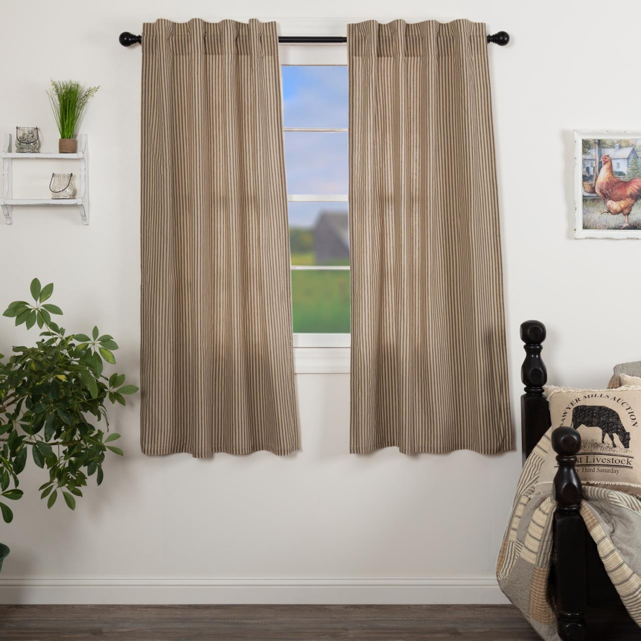 Sawyer Mill Charcoal Curtain Collection -