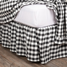 Annie Buffalo Black Check Bed Skirt - 840528164835