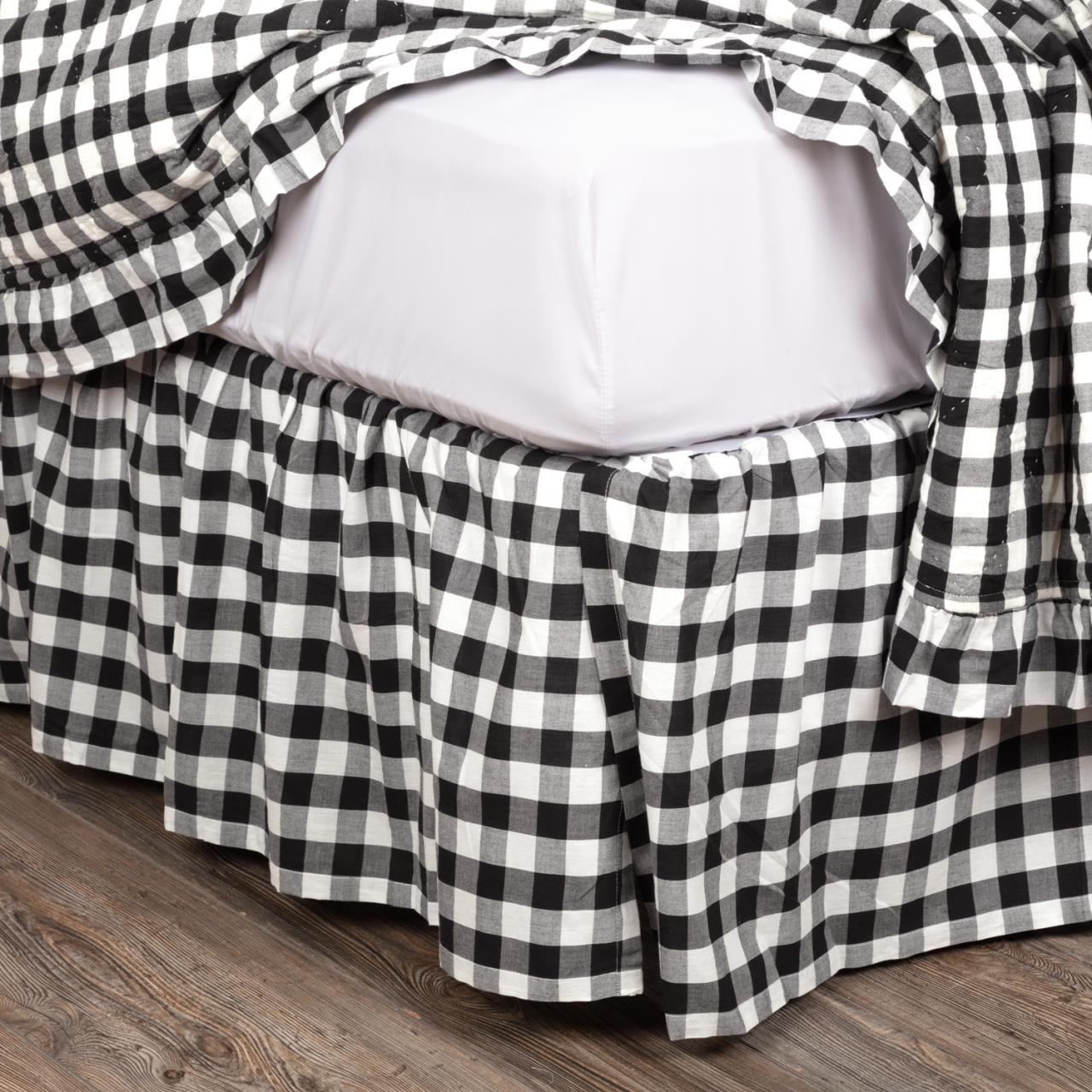 Annie Buffalo Black Check Bed Skirt - 840528164835