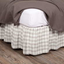 Annie Buffalo Grey Check Bed Skirt - 840528165054