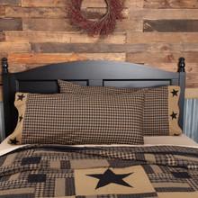 Black Check Star Pillow Case Set - 840528173318