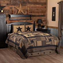 Black Check Star Quilt Set - 840528182037