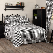 Annie Buffalo Black Check Ruffled Quilt Coverlet - 840528182334