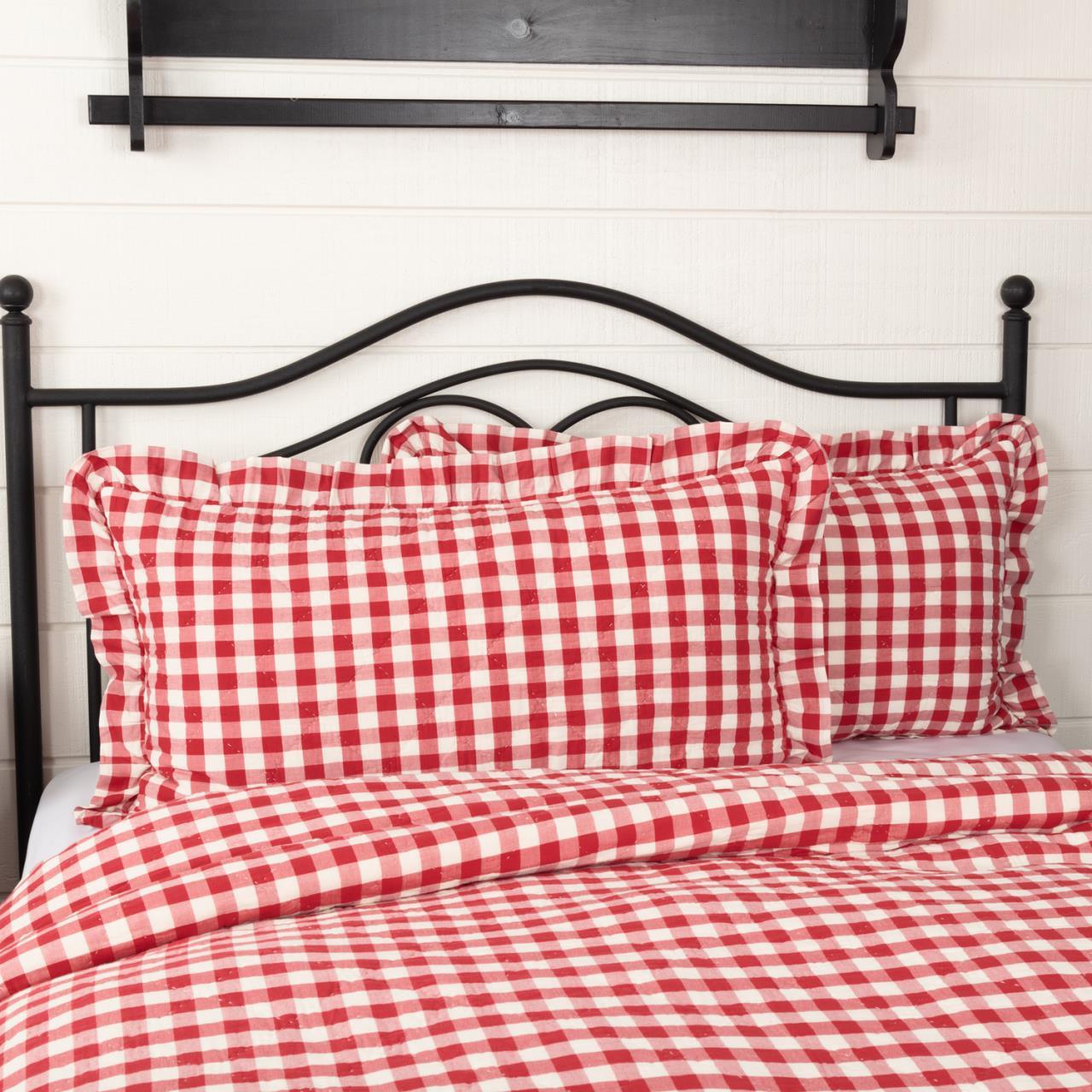 Annie Buffalo Red Check Ruffled Sham - 840528182525
