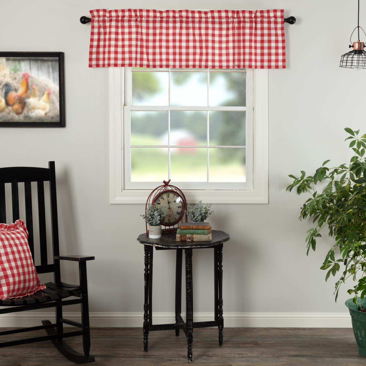 Annie Buffalo Red Check Valance - 840528182600