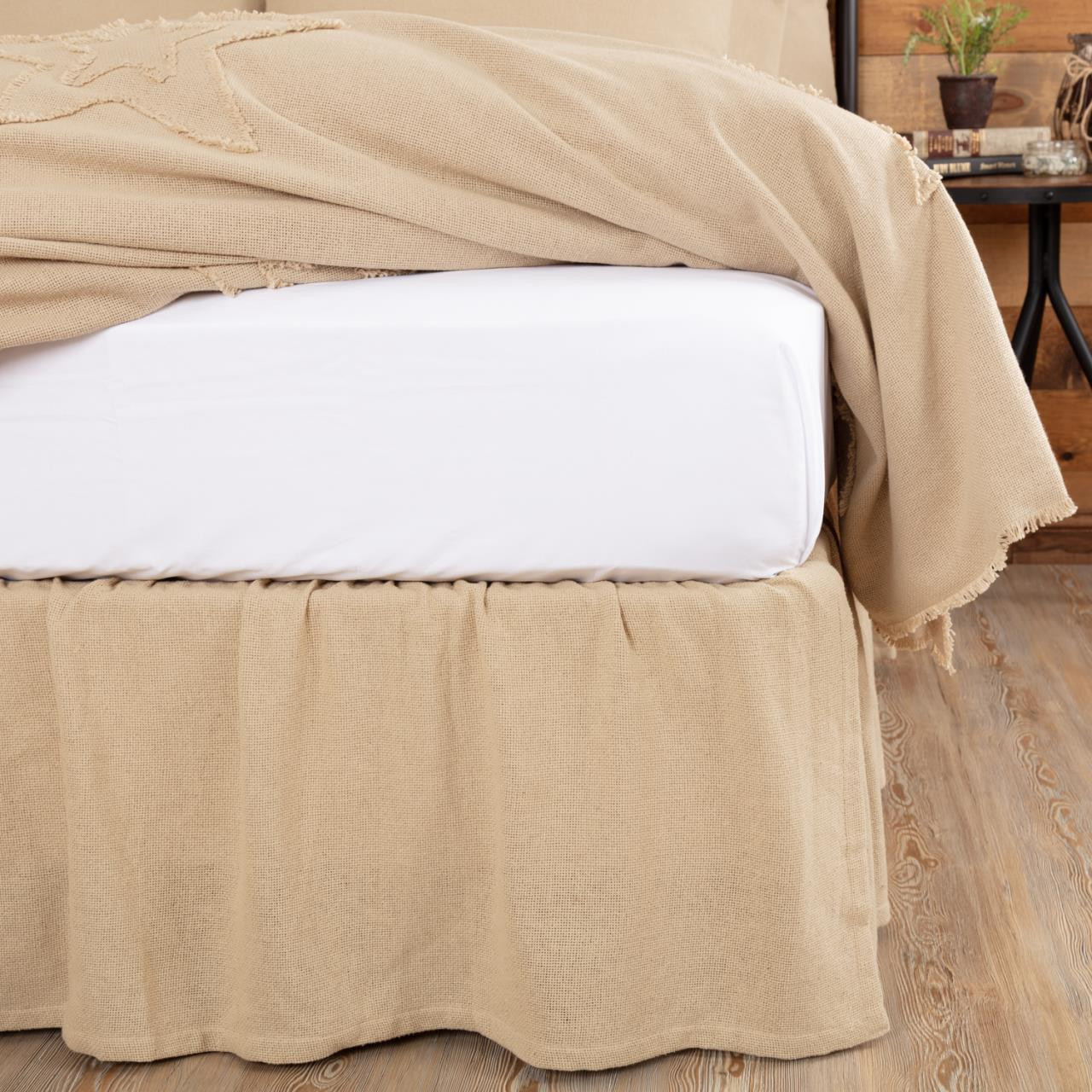 Burlap Vintage Ruffled Bed Skirt By Vhc Brands Paul S Home Fashions