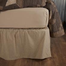 Farmhouse Star Ticking Stripe Bed Skirt - 840528185731