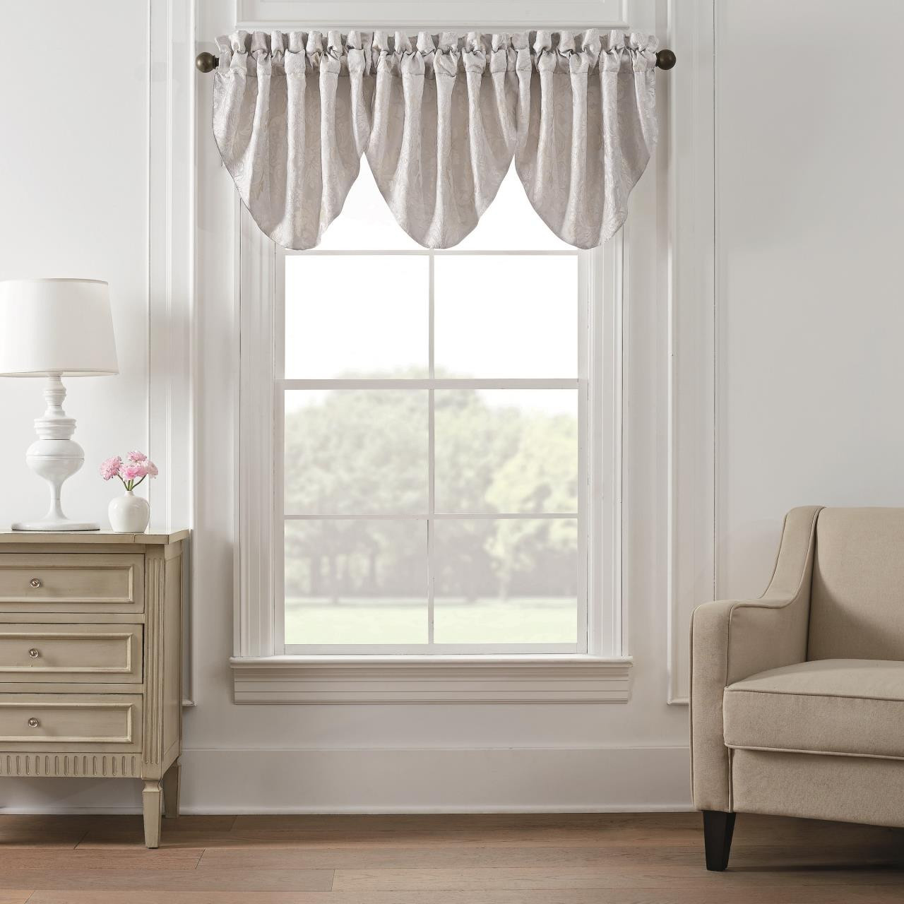 Belline Cascade Valance Set Of 3 By Waterford Paul S Home Fashions
