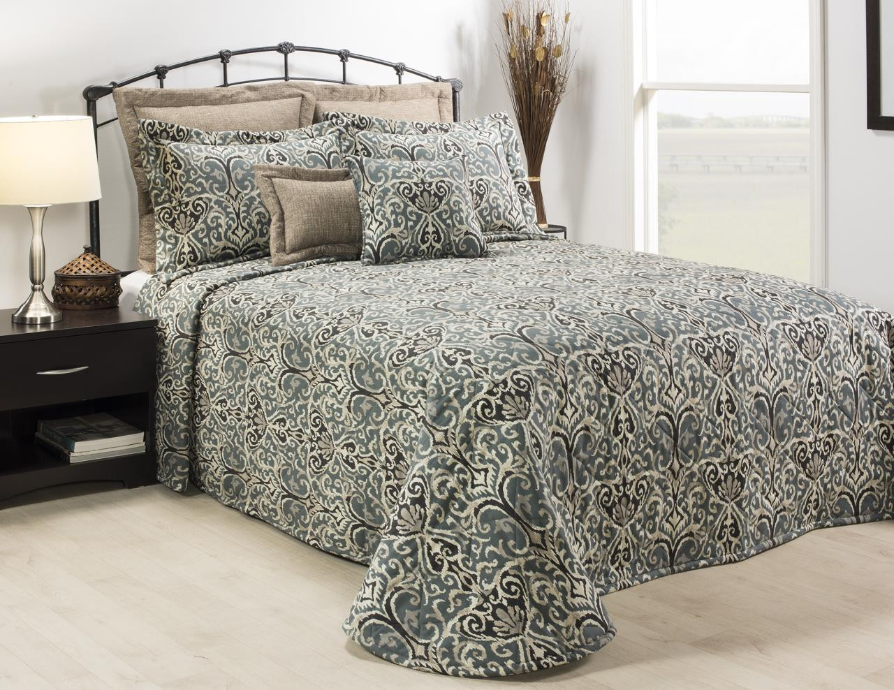 Midnight Ikat Bedding Collection -