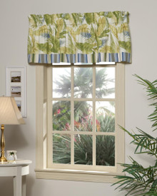 Cayman II w/ Stripe Tailored Valance with Band -