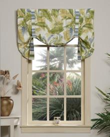 Cayman II w/ Stripe Tie Up Curtain -