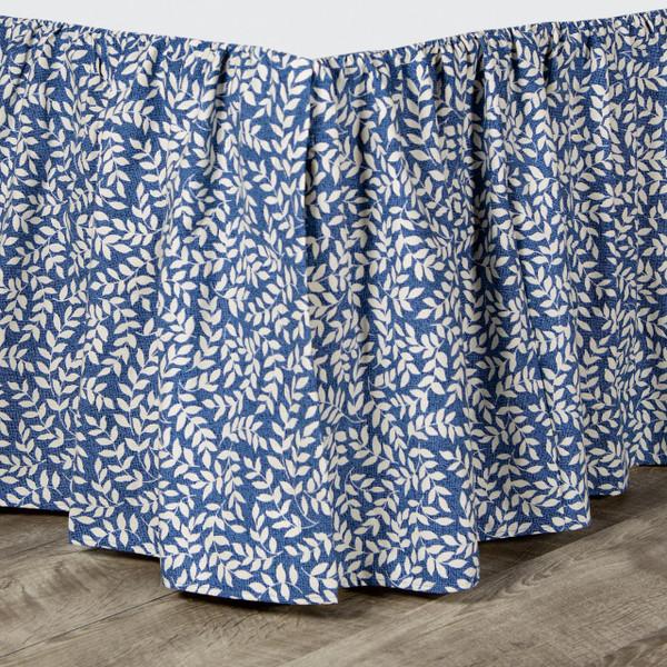 Bouvier Blue Bed Skirt -
