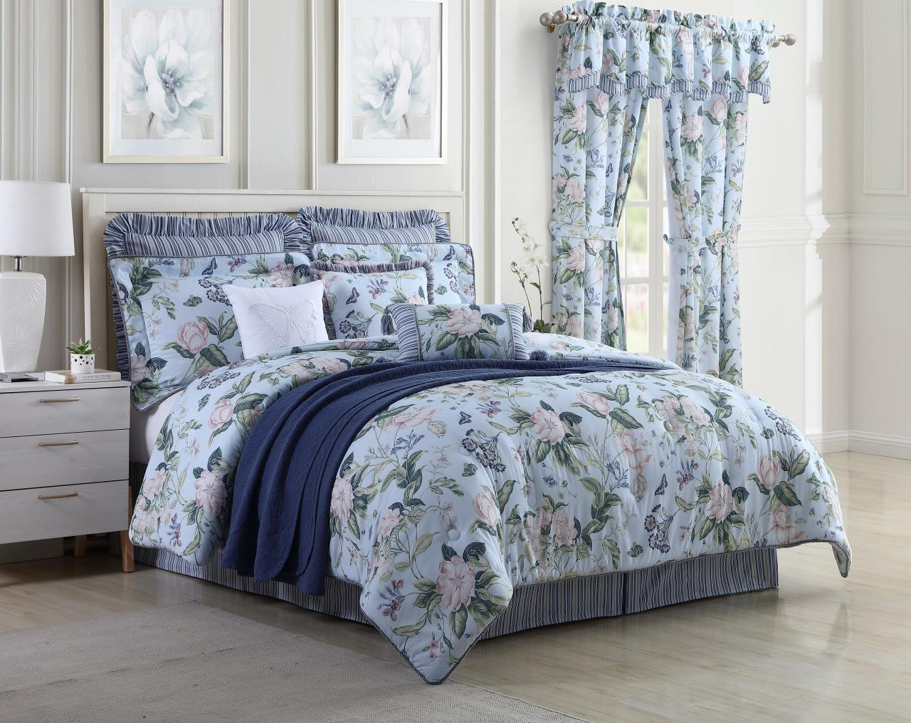 Garden Images Blue Comforter Collection -