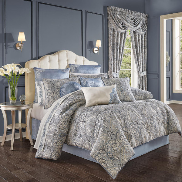 Alexis Powder Blue Comforter Collection -