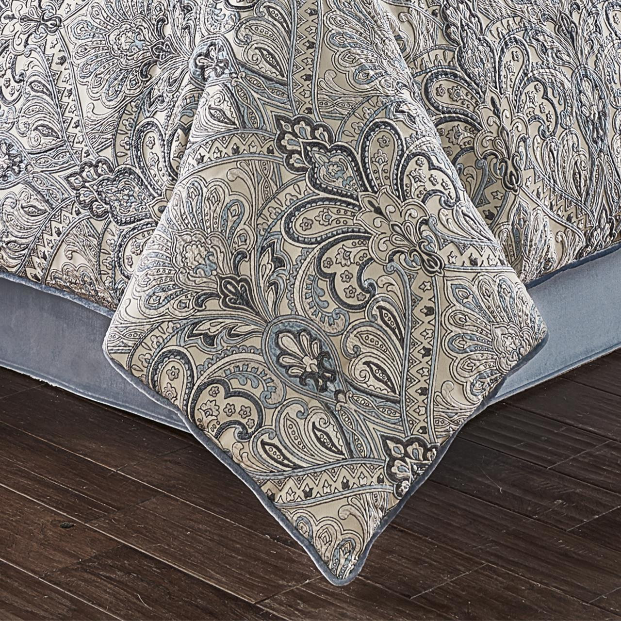Alexis Powder Blue Comforter Collection -