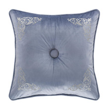 "Alexis Powder Blue 18"" Square Pillow - 193842108581"